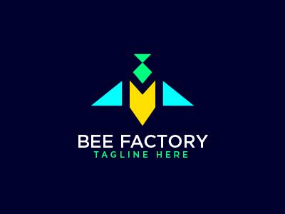 Geometric Bee Logo JK Letter Logo Template